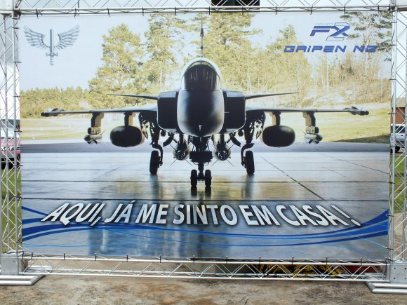 Gripen NG na Base Aérea de Anápolis - Foto Samuel Jaguar Pysklyvicz