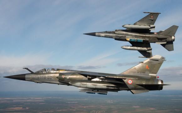Mirage F1 - última campanha ar-solo - foto Força Aérea Francesa