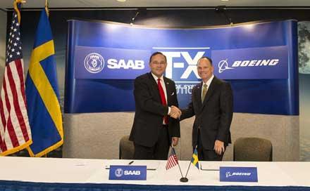 cooperacao Boeing Saab para o T-X