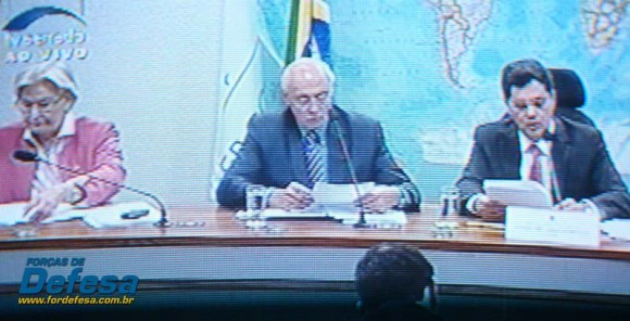 Senadores Ana Amélia Suplicy e Ferraço na CRE - captação da imagem da TV Senado - Forças de Defesa