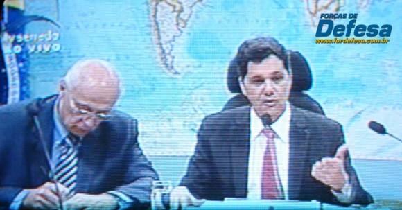 Senadores Suplicy e Ferraço na CRE - captação da imagem da TV Senado - Forças de Defesa