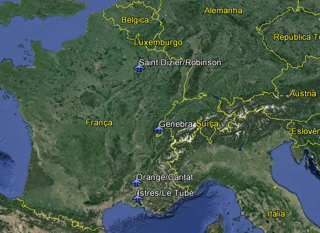 mapa localizacao base aerea de Orange