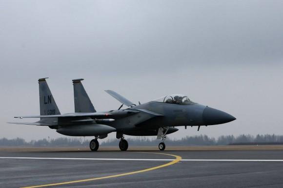 F-15 C de reforço ao destacamento no Báltico - foto 2 MD Lituânia