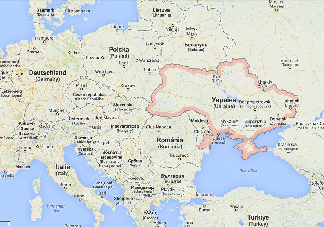 mapa ucrania