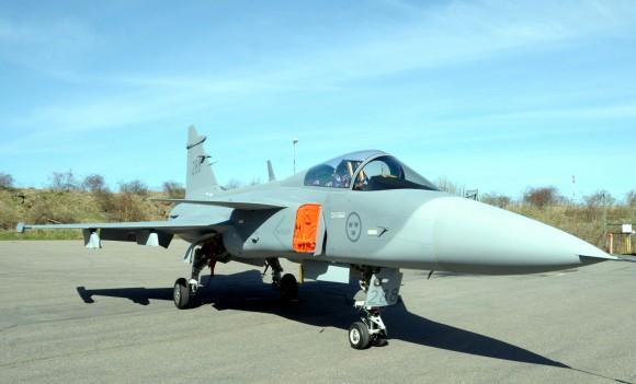 Exibição do Gripen na Suécia para comitiva brasileira - 6