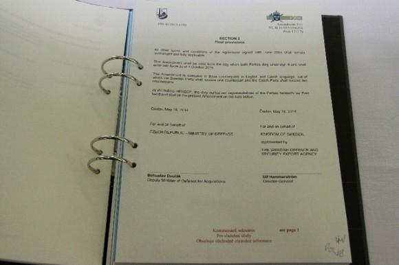 Gripen - contrato de leasing - foto MD República Tcheca