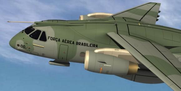 KC-390 - ampliação imagem Embraer