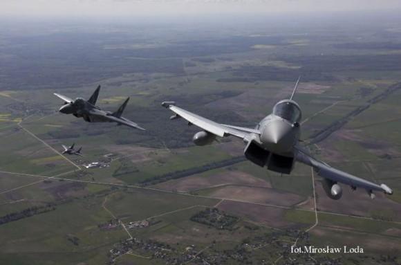 Typhoon e MiG-29 na Lituânia - foto 5 via MD Polônia