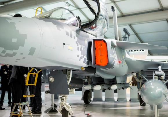 Farnborough - maquete Gripen - foto 17 Saab