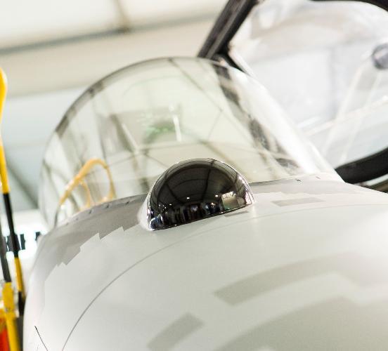 Farnborough - maquete Gripen - foto 9 Saab