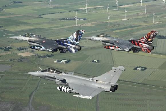 Rafale e F-16 - Tiger Meet 2014 - foto Luftwaffe