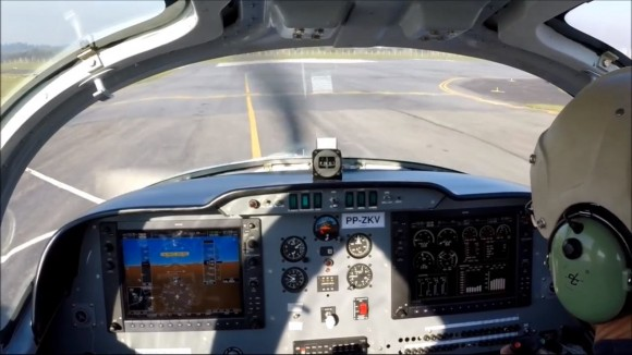primeiro voo do T-Xc - foto interna painel