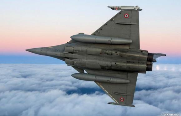 Rafale - exercício de guerra eletrônica na Eslováquia - foto ilustrativa Força Aérea Francesa