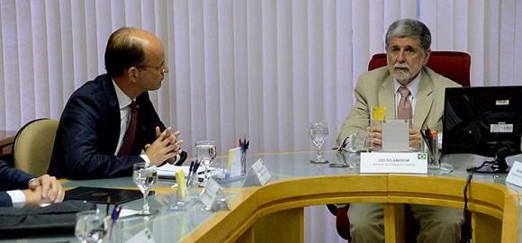 Reunião Amorim e von der Esch no MD - foto Ministério da Defesa