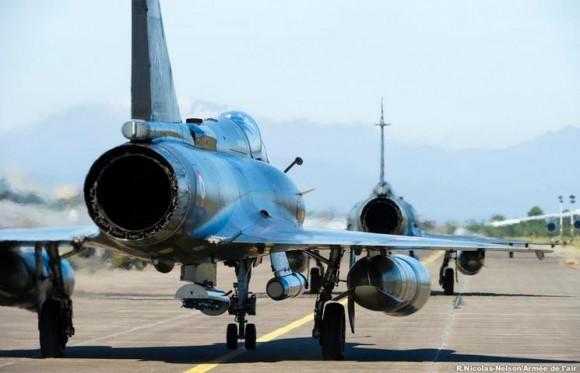jatos Mirage 2000 em exercício Serpentex realizado em Solenzara - Córsega - foto Força Aérea Francesa