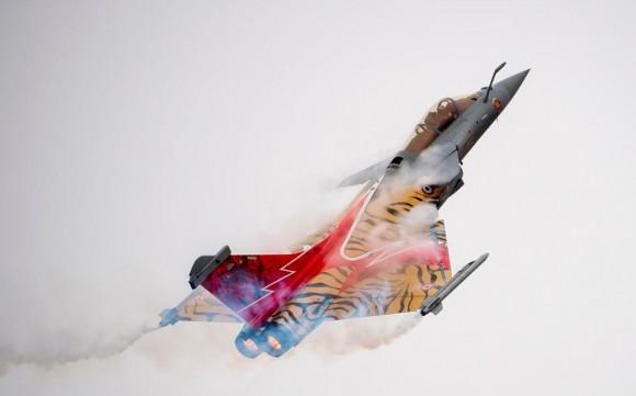 Exibição Rafale - 100 anos da primeira vitória em combate aéreo - foto Força Aérea Francesa