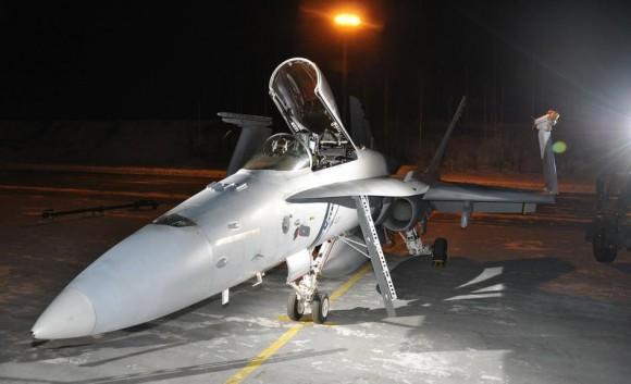 F-18 finlandês - foto Forças Armadas da Finlândia