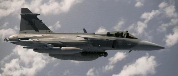 Gripen C sueco - foto Forças Armadas da Suécia