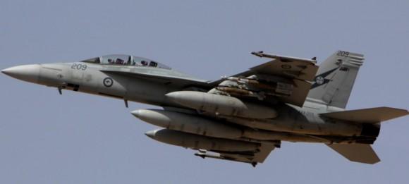Missão Super Hornets da RAAF em 5-10-2014 - foto Min Def Australia