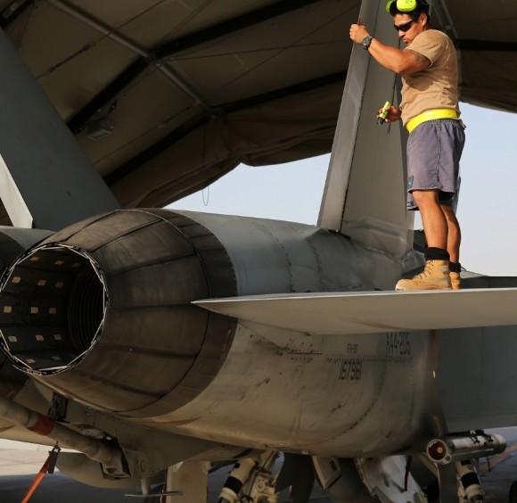 Super Hornet australiano volta de primeira missão no Oriente Médio - foto 3 MD Australia
