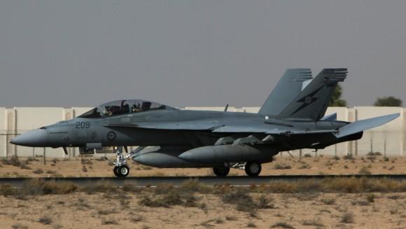 Super Hornet australiano volta de primeira missão no Oriente Médio - foto MD Australia