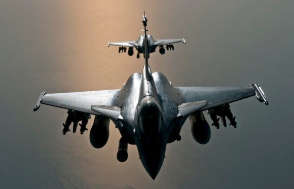 caças Rafale em missão sobre o Iraque - foto Min Def França