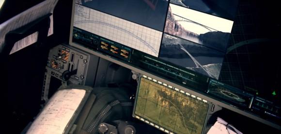 Display tela única em Gripen - cena vídeo promocional Saab