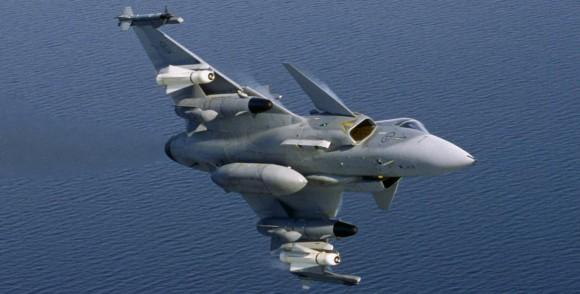 Gripen configuração antinavio - foto Saab