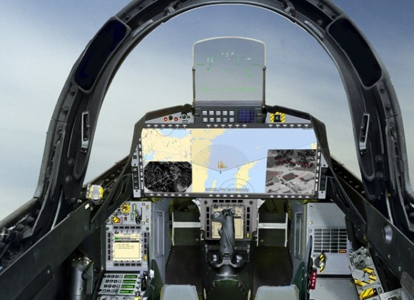 cockpit Gripen NG para o Brasil - imagem Saab via G1