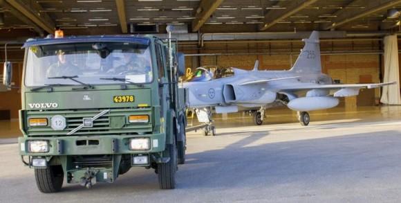 Gripen - Ala 17 treina tiro ar-solo em Vidsel - foto 2 Forças Armadas da Suécia