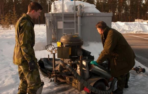 Gripen - Ala 17 treina tiro ar-solo em Vidsel - foto 6 Forças Armadas da Suécia