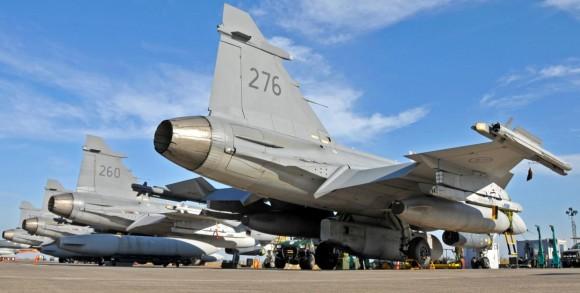 caças Gripen suecos na Sicília - foto Saab