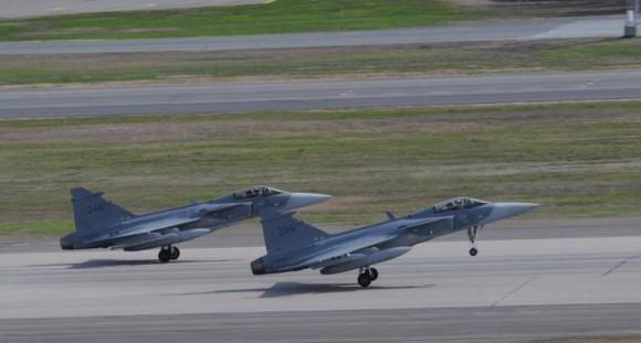 Artic Challenge Exercise - ACE 2015 - caças Gripen - foto Forças Armadas Suecas