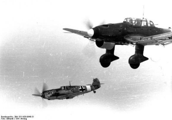 Messerschmitt Me 109 und Junkers Ju 87