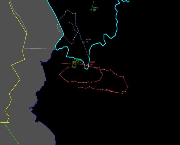 Mapa abate Su24 por cacas turcos - CNN Turquia
