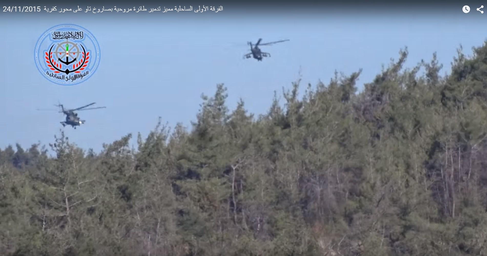 Mi-17 e Mi-24 russos na siria