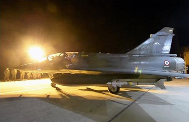 Mirage empregado em missoes contra o Estado Islamico - foto Min Def Franca