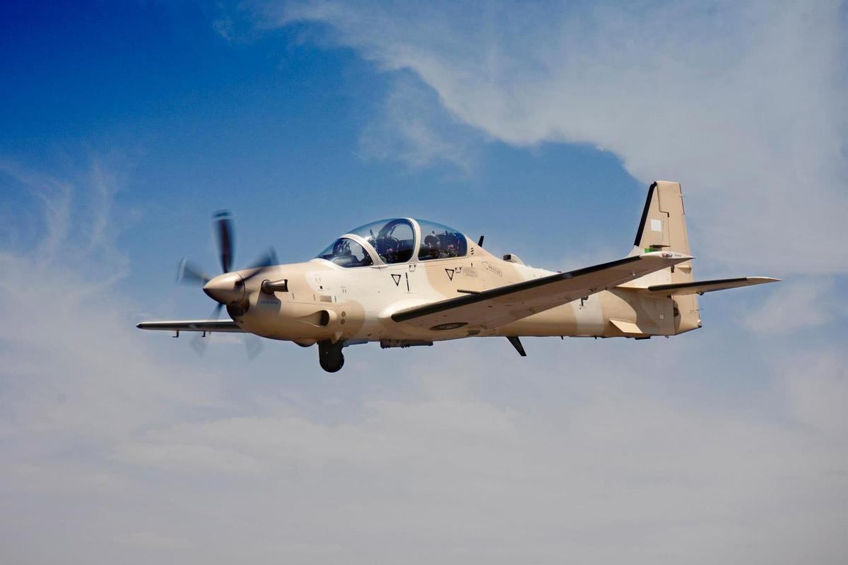 FUERZA AÉREA DE GHANA A-29-Super-Tucano-da-Maurit%C3%A2nia