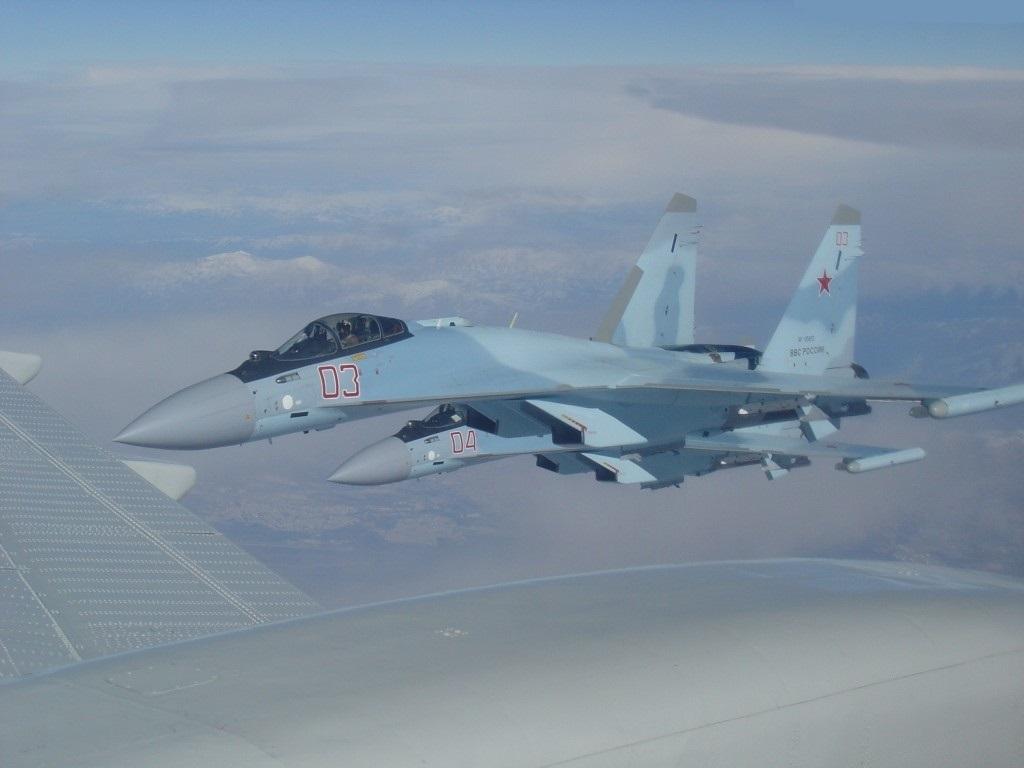 Su-35S en route to Sirya - 1