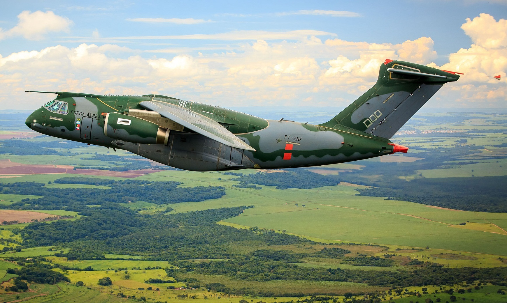 KC-390 em voo no interior de São Paulo - foto 2 FAB - Sgt Batista