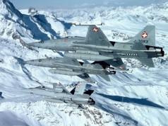 F-5E Tiger II e F/A-18 Hornet da Força Aerea Suíça