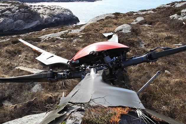 O rotor principal do H225 Super Puma separou-se da aeronave em pleno voo