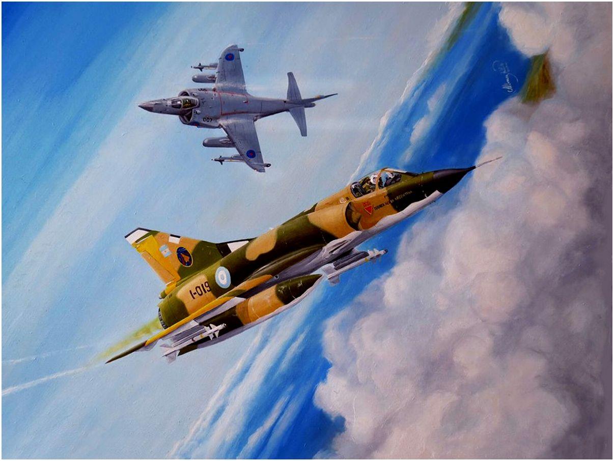 mirage-iii-con-dos-misiles-infrarojos-matra-m-550-sea-harrier-del-sqdn-801-isla-borbon-malvinas-pablo-albornoz