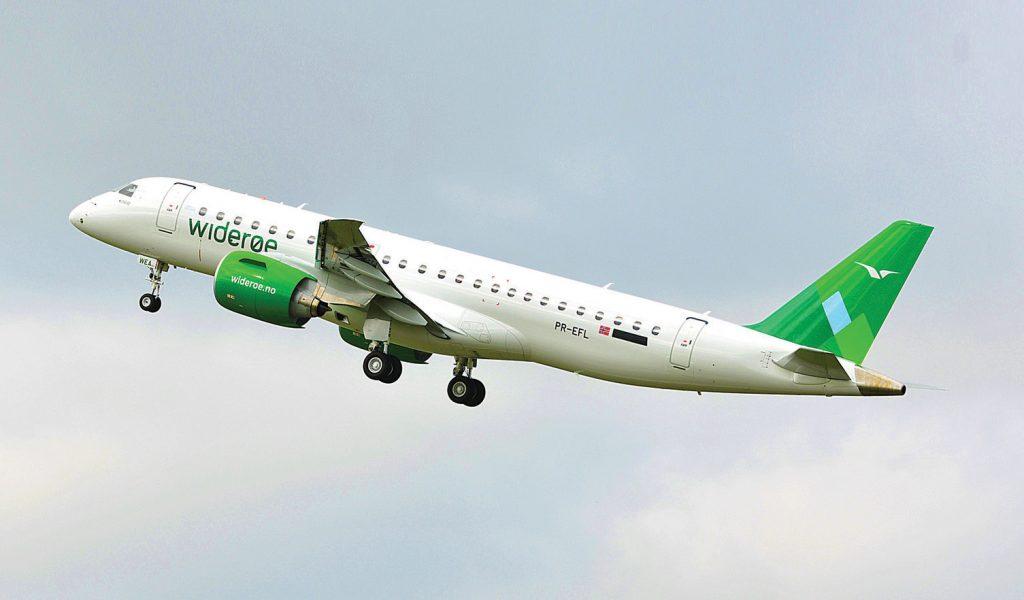 E190-E2 decola para o primeiro voo comercial