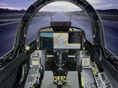Cockpit do Saab Gripen com WAD
