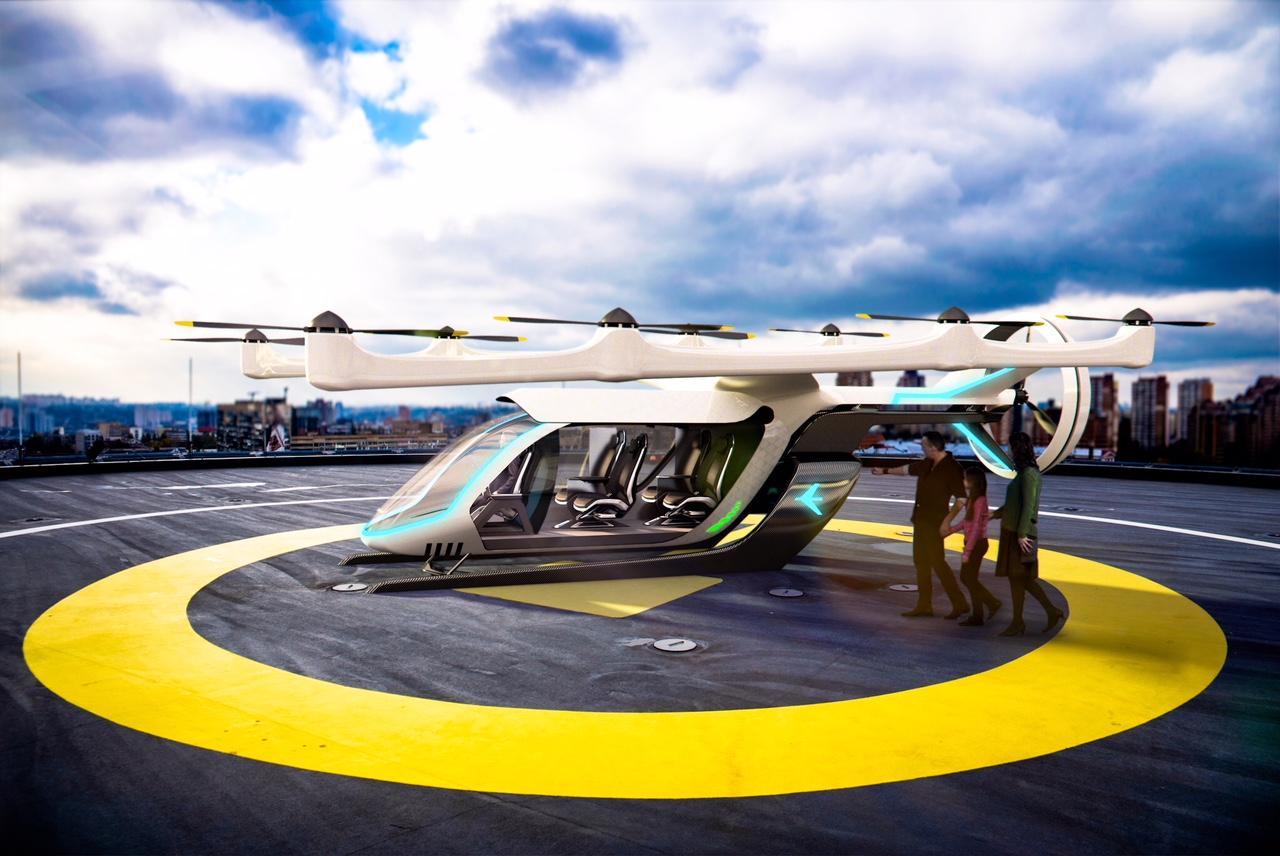 Uber apresenta protótipo de táxi voador em Los Angeles
