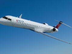 Concepção do Bombardier CRJ900 da Delta Air Lines com cabine ATMOSPHÈRE
