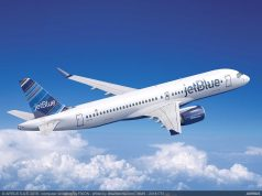 Concepção do Airbus A220-300 da JetBlue