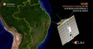 Concepção artística do nanosatélite VCUB1