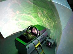 Os simuladores do Gripen no FLSC funcionam em rede, permitindo o treinamento em esquadrilhas